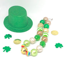 Load image into Gallery viewer, St. Patrick's Day Little Girls Bubblegum Necklace #3. Leprechaun Gift. Saint Patty's Day Party Accessory.