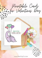 Load image into Gallery viewer, Dinosaur Valentines, Boop Card, Dino Valentines Day Cards for Kids, School Valentines, Printable Valentines