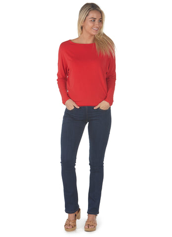Bamboo T Shirt Batwing Red Full