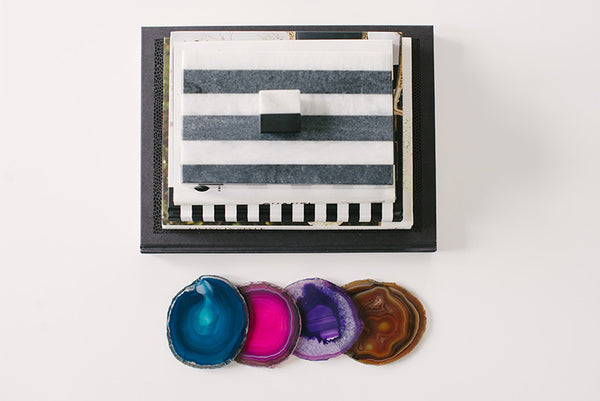 Assorted Color Natural Edge Coasters
