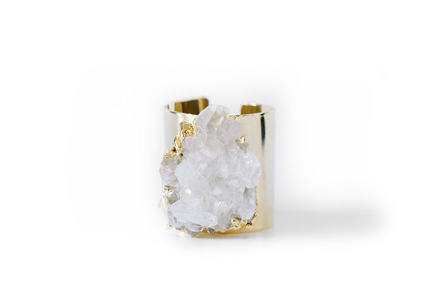 Crystal Quartz Cuff
