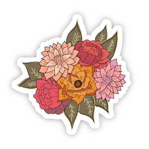Big Moods - Red, Yellow, and Pink Floral Sticker