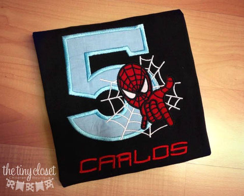 Personalized Spiderman Web Birthday Design