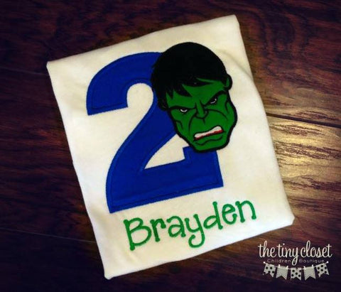 Personalized Hulk Birthday Design - Solid Royal