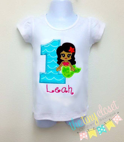 Personalized Mermaid Girl Birthday Design