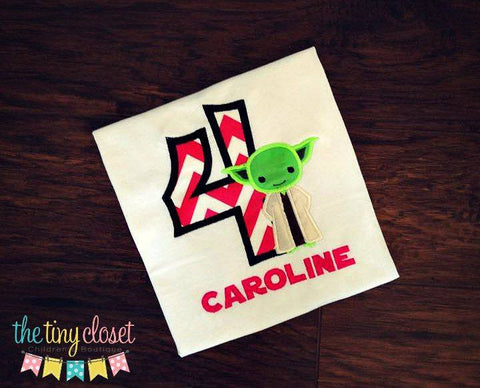 Personalized Yoda Birthday Design - HP chevron