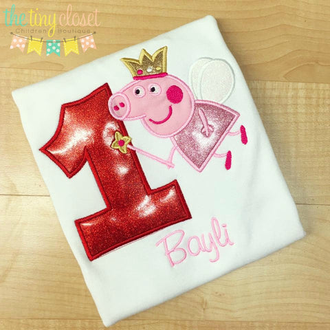 Personalized  Peppa Pig Fairy Birthday Design