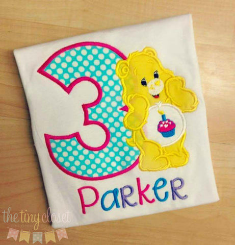 Personalized Care Bear Sunshine Birthday Design
