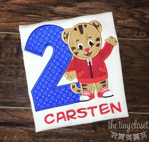 Personalized Daniel Tiger Birthday Design - Blue Dot