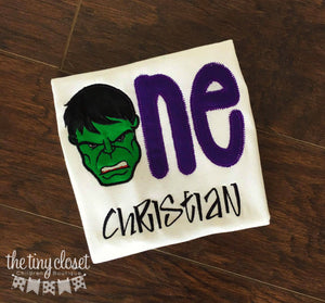 Personalized Hulk Word Birthday Design