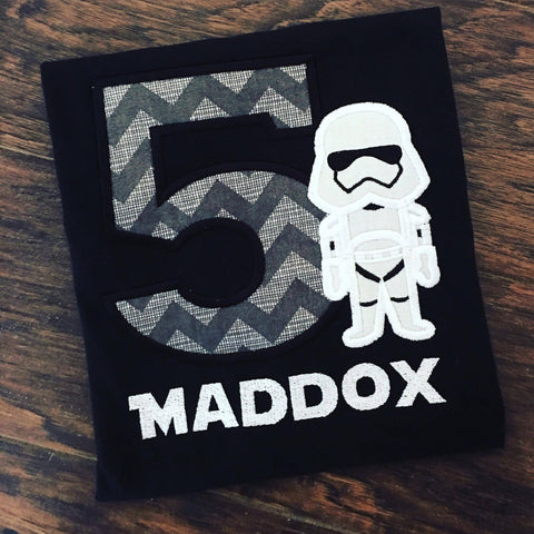 Personalized Storm Trooper Birthday Design