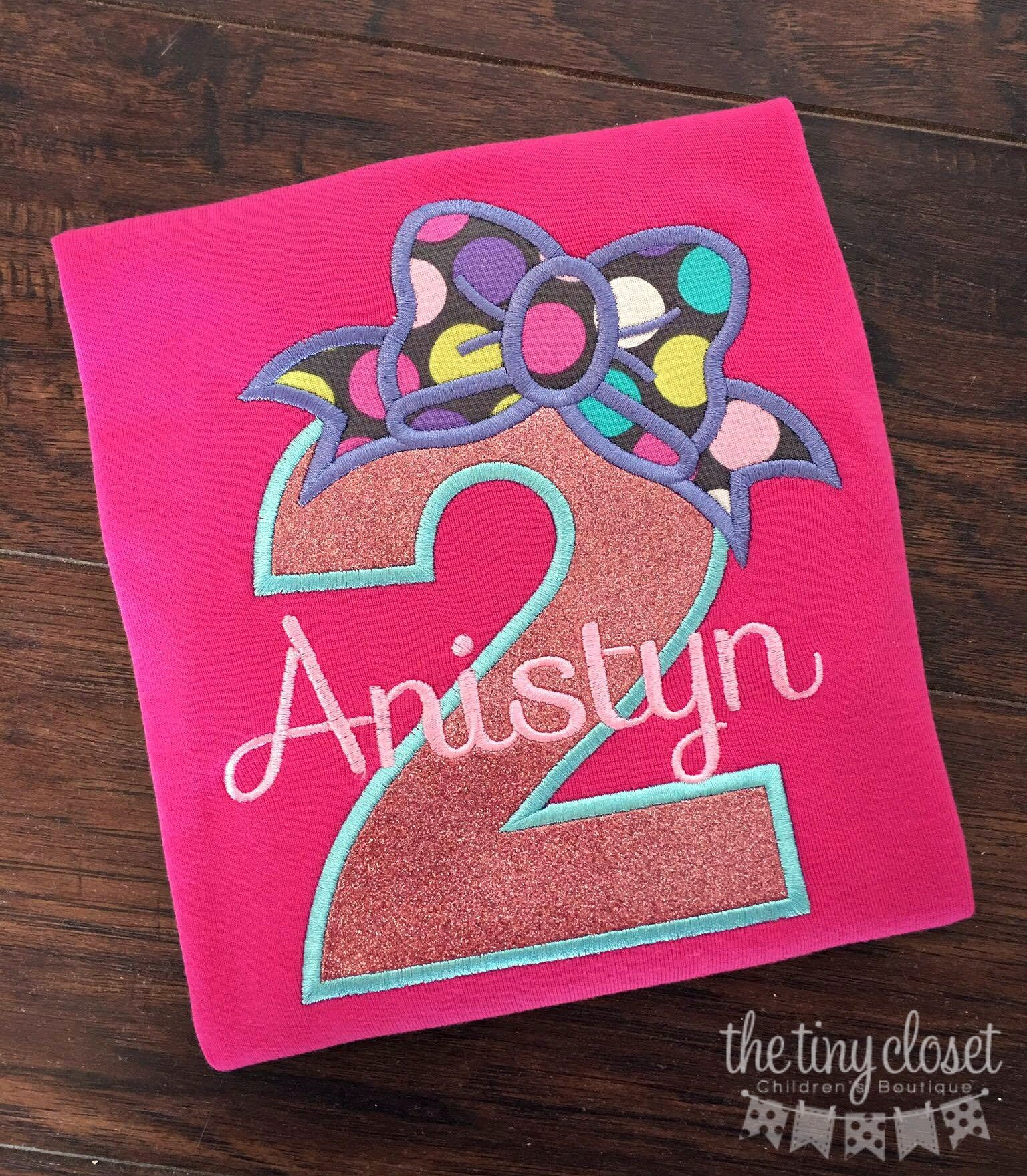 Personalized Birthday Bow Design