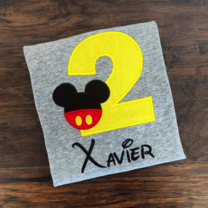 Personalized Mickey Mouse Birthday Design- Classic