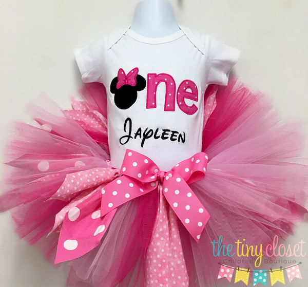 Personalized Minnie Mouse Birthday Tutu Set - One