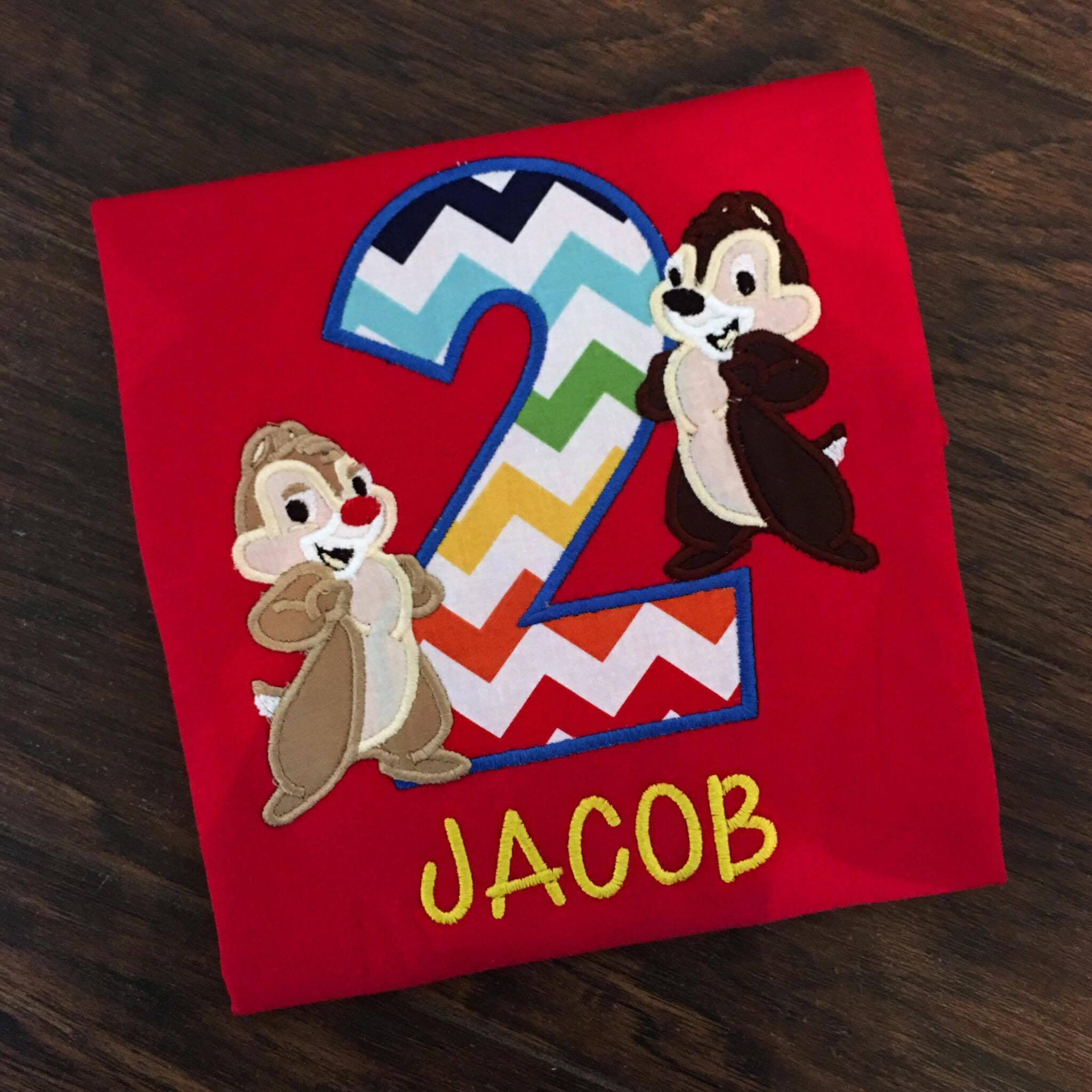 Personalized Chip & Dale Birthday Design