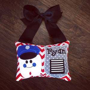 Personalized Tooth Fairy Pillow -  Police