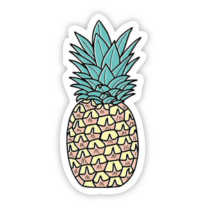 Big Moods - Pineapple Multi Color Aesthetic Sticker
