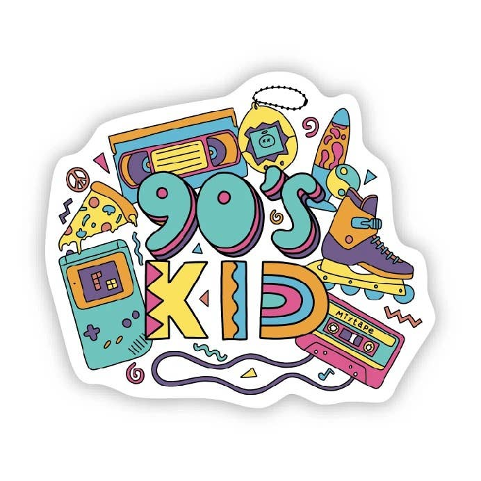 Big Moods - 90s Kid Sticker