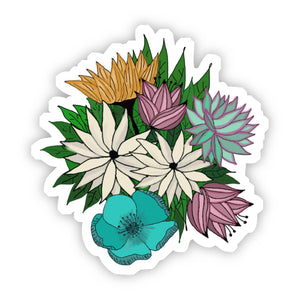 Big Moods - Yellow, Green, Red & White Floral Sticker