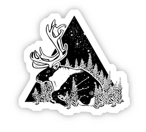 Big Moods - Elk and Night Sky Sticker
