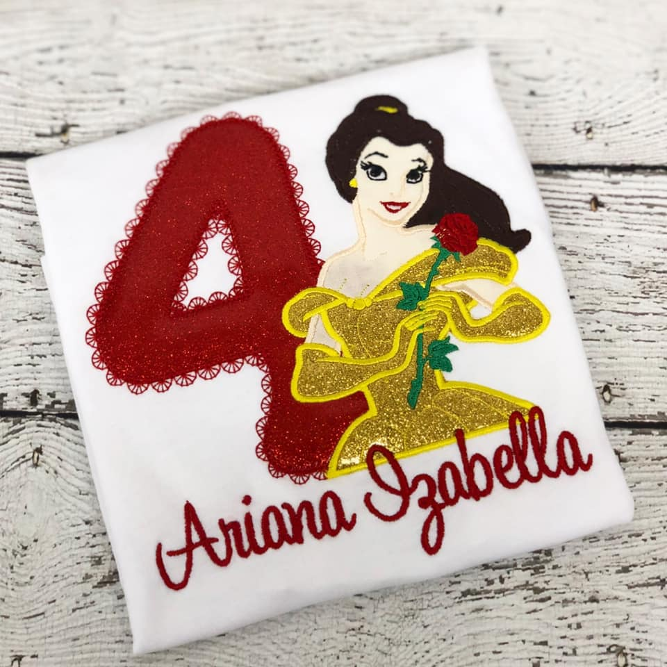 Personalized Disney Princess Belle Design