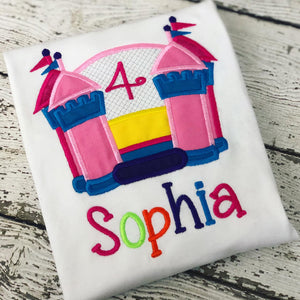 Personalized Bounce House Birthday Design