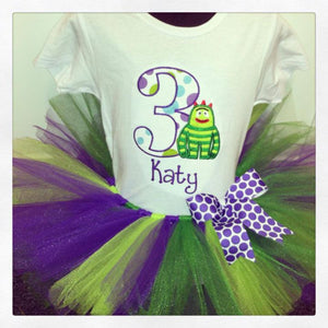 Personalized Yo Gabba Gabba Brobee Birthday Tutu Set