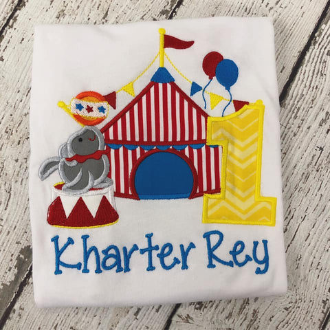 Personalized Circus Big Top Birthday Design