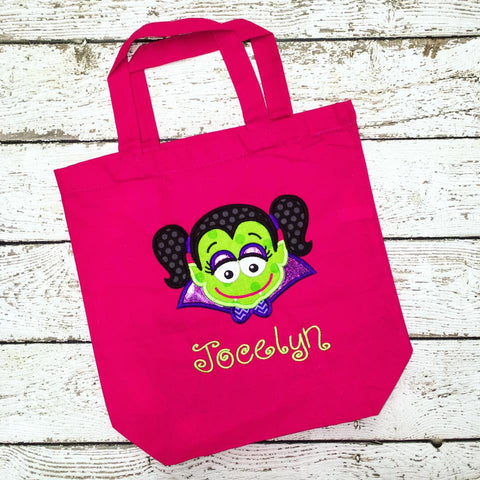 Personalized Dracula Girl Trick or Treat Bag