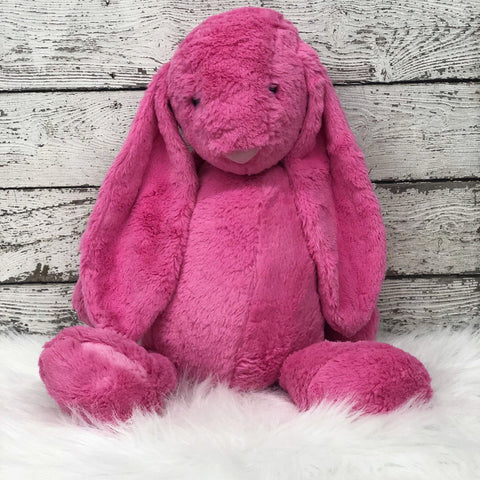 Personalized Easter Bunny- JUMBO HOT PINK