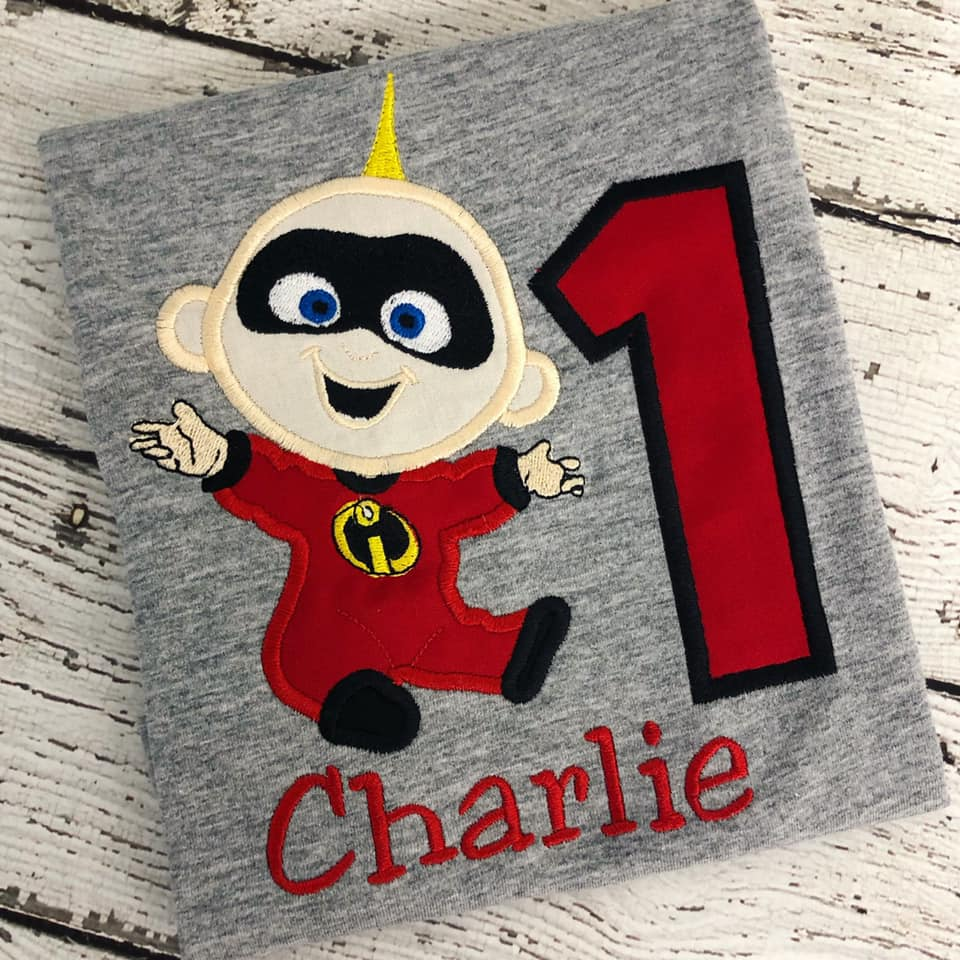 Personalized Incredibles Birthday Design- Baby Jack Jack