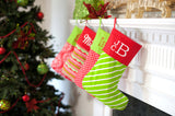 Personalized Bright Stripe Christmas Stocking