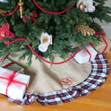 Personalized Holiday Plaid Tree Skirt