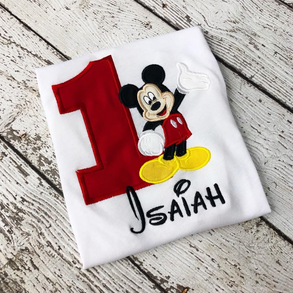 Personalized Mickey Mouse Full Body Birthday Design