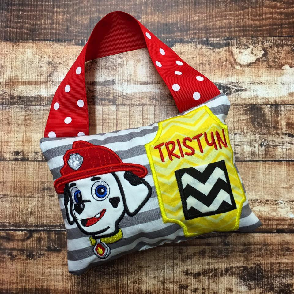Personalized Tooth Fairy Pillow - Paw Patrol Marshall