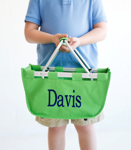 Personalized Mini Market Tote - Green