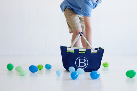 Personalized Mini Market Tote - Navy