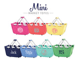 Personalized Mini Market Tote - Hot Pink