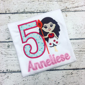 Personalized Moana Birthday Design -Applique Name
