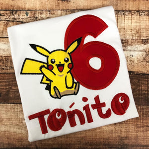 Personalized Pokemon Birthday Design- Pikachu
