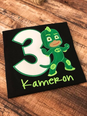 Personalized Pj Masks Birthday Design - Gecko