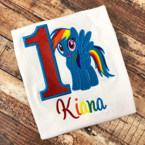 Personalized My Little Pony Birthday Design - Rainbow Dash