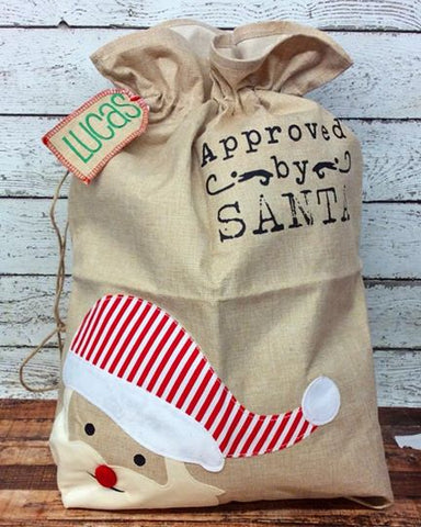 Personalized Applique Santa Sack- PRE-ORDER