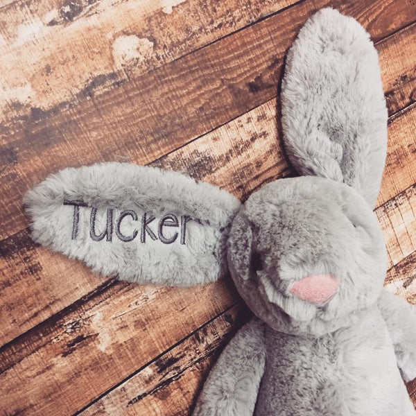 Personalized Easter Bunny- Med. GREY