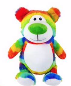 Personalized Plush- Cubbyford - Rainbow Bear