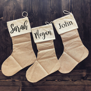 Personalized Simple Farmhouse Stocking