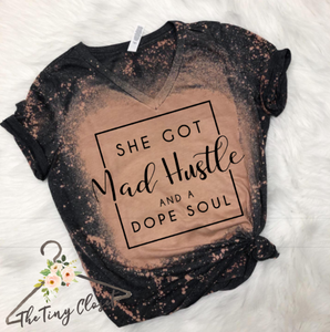 MAD HUSTLE & A DOPE SOUL - DISTRESSED GREY