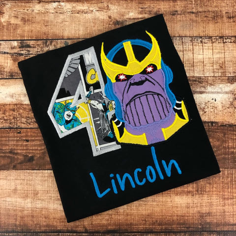 Personalized THANOS Birthday Design