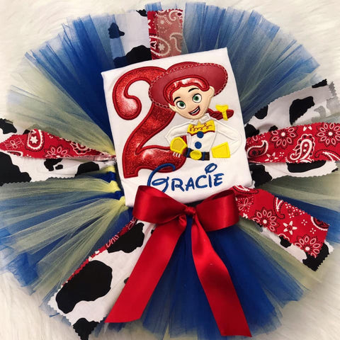 Personalized Toy Story Birthday Tutu Set- Jessie