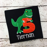 Personalized T. Rex Birthday Design- Black